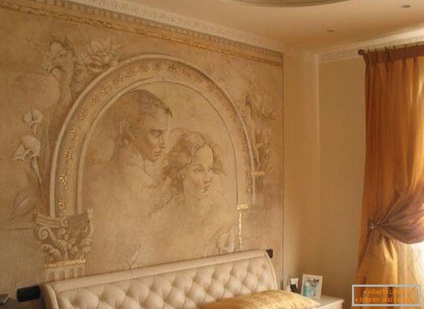 Tencuiala Decorativa De Interior.Decorarea Moderna A Peretilor Cu Tencuiala Decorativa 22